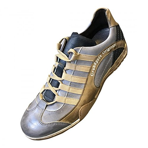 3ec87657b760fd Grandprix Originals – Leather Sneakers Beach Club – Taille 44. Chaussure  Sport sneaker / basket style pilote pour homme.