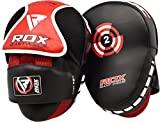 RDX Maya Hide Pelle MMA Coppia Scudo Sciopero Gancio Jab Pastiglie Boxe Thai Pao Arti Marziali Allenamento
