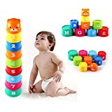 exoh Kunststoff Stapeln, Stack Up Tassen Blöcke für Kinder Baby pädagogisches Spielzeug