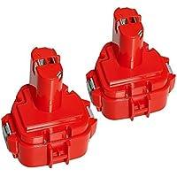 LiBatter 12V 3.0Ah Ni-MH Batería de Repuesto para Makita 1220 1200 PA12 1234 1235 1235B 1235F 1235A 192696-2 192698-8 192598-2 192681-5 192698-A 193138-9 193157-5 (2 packs)