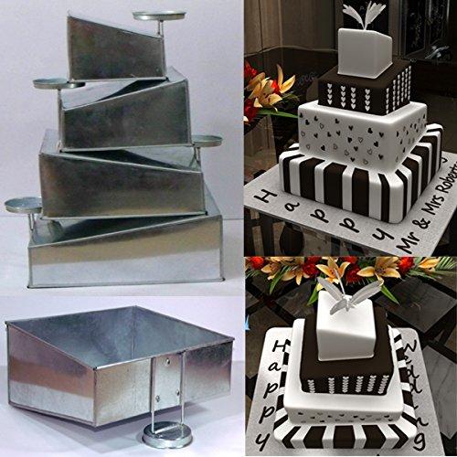 Euro Tins Multi Layer Cake Pans Mini Topsy Turvy Square