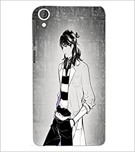 PrintDhaba Tom Girl D-6070 Back Case Cover for HTC DESIRE 820 (Multi-Coloured)
