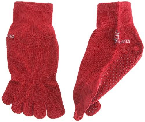 Sissel Chaussettes Pilates mixte adulte Rouge S/M 36-40