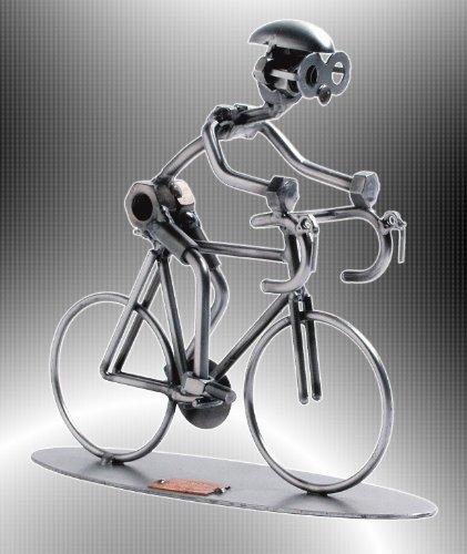 """Boystoys HK Design - Fahrrad Schraubenmännchen Rennrad \""""Radrennfahrer & Radsport\"""" - Metall Art Geschenkideen Deko Skulptur Sport & Freizeit - hochwertige Original Figuren handgefertigt"""