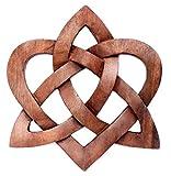 Windalf Celtic Holzbild MIA Ø 22 cm Keltischer Liebesknoten Herz Wanddeko Handarbeit aus Holz