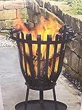 Cesto di carbone con griglia braciere in acciaio immagine