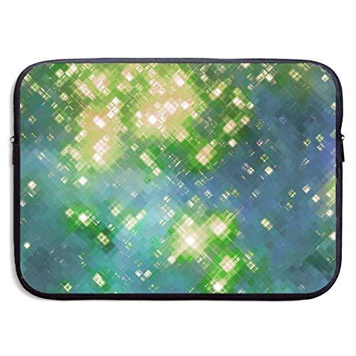 Benutzerdefinierte Laptop-Hülle 13/15 Zoll Chromebook Reißverschluss Aktentasche Blink Squares Light Print Tragbare Umhängetasche, 15 Zoll