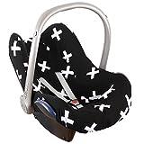 Sommerbezug - Bezug Ukje für Maxi-Cosi Cabriofix, Citi und Pebble - Schwarz mit weissen Kreuzen