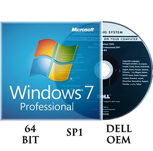 Windows 7 Professiomal 64 bit OEM incl.SP1 DVD + Activation key DELL branded Test