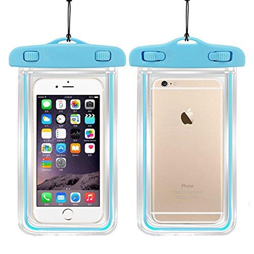 TIODIO® Waterproof Bag/Case Pour Touch Screen phone Under 5.5 inch Boitier etanche pour iPhone,Samsung ,LG,Nokia,Sony et telephone a ecran tactile sous 5.5inch, Violet Azur