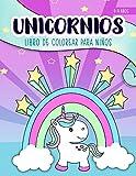 Unicornios: Libro de colorear para niños: 4-9 años: Un bonito cuaderno de actividades para niños y niñas