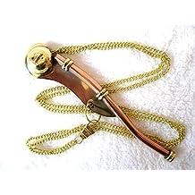 Bootsmannsmaatenpfeife 12cm Messing//Kupfer in Geschenkbox mit Kette