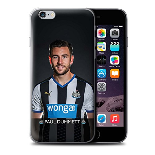 Offiziell Newcastle United FC Hülle / Case für Apple iPhone 6S+/Plus / Pack 25pcs Muster / NUFC Fussballspieler 15/16 Kollektion Dummett