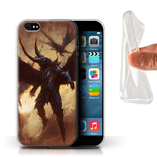 Offiziell Chris Cold Hülle / Gel TPU Case für Apple iPhone 6S+/Plus / Flügel von Nox Muster / Wilden Kreaturen Kollektion Flügel von Nox