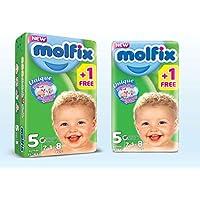 Molfix Couches Bébé 3D Junior Taille 5 (11-18 kg) 7 + 1=8 couches