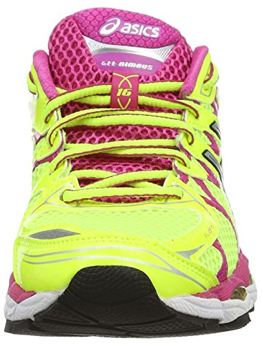 cc39201b57 ASICS Gel-Nimbus 16, Scarpe sportive da donna, Colore Giallo (Flash  Yellow/Silver/Hot Pink), Taglia 6 UK, 39.5 EU