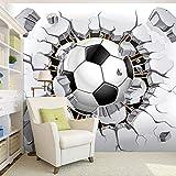 Zxfcczxf 3D Fußball Wallpaper Sport Hintergrund Wandbild Wohnzimmer Sofa Schlafzimmer Fußball Tv Hintergrund Benutzerdefinierte Größe Tapete-120X100CM