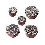 Royal Kraft Städtisch Muster Mandala und Runden Hölzern Blöcke Stempel (Set von 5)