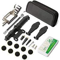SENZEAL V/élo Trousse de v/élo Multifonctions M/écanicien Cycliste R/éparation Outil Kit Moto Portable 16 en 1 Cyclisme Outil De R/éparation Multifonctionnel