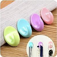takestop® Set of 8Hooks Adhesive hook 1.5kg Wardrobe Coat Robe Children Tea Towels Kitchen Home Random Colour