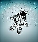 Adesivi da cameretta bambini vestito da astronauta spazio astronomia spazio A