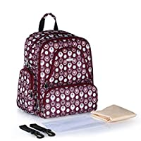 YANWE Multi-function Large Capacity Shoulder Mommy Bag Waterproof Cotton Maternal Outing Backpack Shoulder Mom Bag