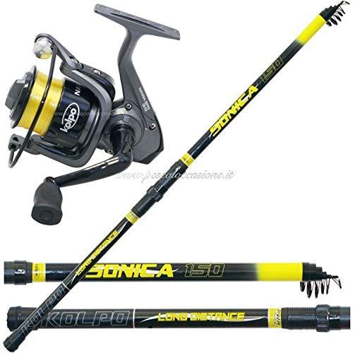 Combo pesca a fondo lago mare scogli molo 150 gr