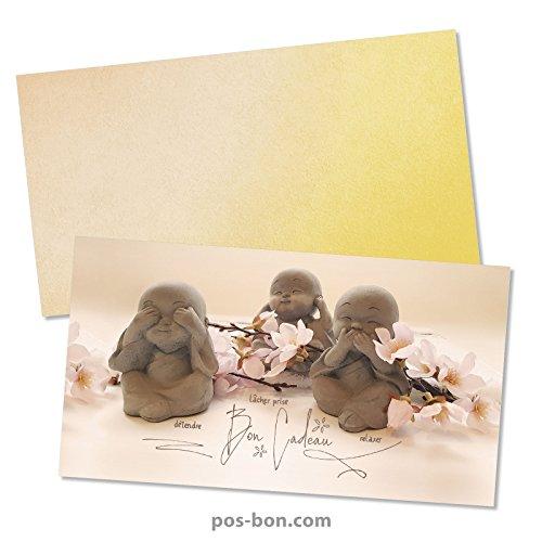 25 Bons cadeaux + 25 enveloppes pour kinésithérapie, énergétique, bien-être, wellness et spa MA1255F