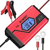 SUAOKI 12V Car Battery Charger and Maintainer with 7A Fast and 3.5A Slow