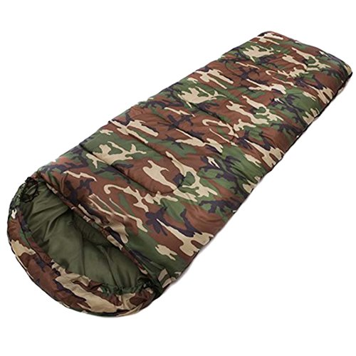Schlafsack, Camouflage Schlafsäcke Travel Schlafsack, ideal für 4Saison Reisen, Camping, Wandern, Outdoor Aktivitäten