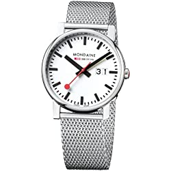 Mondaine Herren-Armbanduhr SBB Evo Big Date 40mm Analog Quarz A6273030311SBM