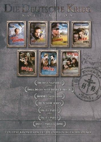 Bild von Deutsche Krieg Box: 08/15 (teil 1-3, 310 min Langfassungen) (1954) / DER STERN VON AFRIKA (1957) / ROMMEL RUFT KAIRO (1959) / HUNDE, WOLLT OHR EWIG LEBEN (1959) / DES TEUFELS GENERAL (1955) [7 DVD BOX SET]