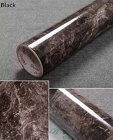 Effet Marbre Effet Granite yancorp Comptoir Film vinyle autocollant Papier peint peel-stick 61x 198,1cm, 61cmx2m, noir