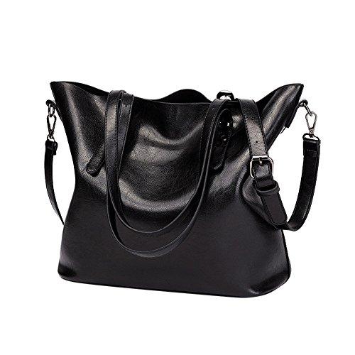❤HappyQn❤ Damen Vintage Tote Beutel Schultertasche Handtasche Mode Handtasche Messenger Bag (Fossil Cecil)