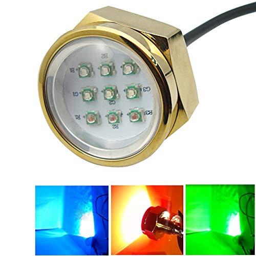 LED Light Celinezl 9 * 3 watt marine unterwasser licht, aluminiumlegierung rgb cree led ablassschraube lampen mit fernbedienung für boot yacht, dc 11-28 v (externe fahrer) - Led-unterwasser-boot Lichter
