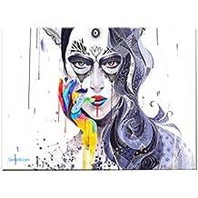 Comfot Dipinto Ad Olio Dipinto A Mano - Quadro su Tela Immagine-Ricci Donna  226bae70cf62