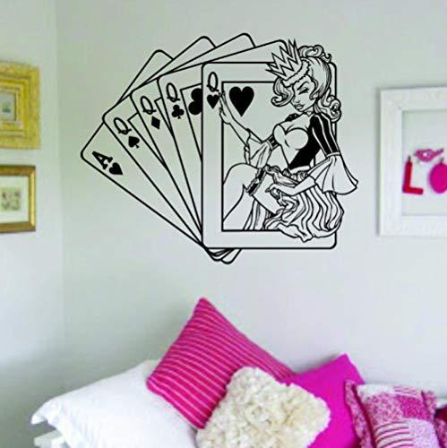 Königin Karten Wandaufkleber Home Interior Wandbilder Haushaltswaren Design 58X70Cm