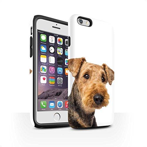 Coque Matte Robuste Antichoc de STUFF4 / Coque pour Apple iPhone 7 Plus / Bouledogue Design / Chiens Collection Airedale Terrier