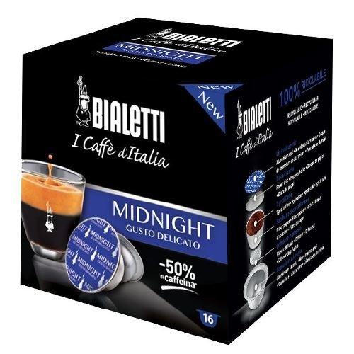 160 CIALDE CAPSULE ALLUMINIO BIALETTI MOKESPRESSO I CAFFE' D'ITALIA MIDNIGHT ORIGINALI