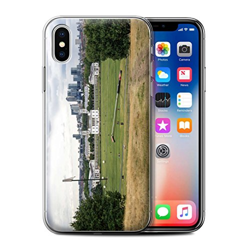 Stuff4 Gel TPU Hülle / Case für Apple iPhone X/10 / Londons Brenn Muster / Vorstellen Kollektion Park Setzen