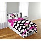 Disney Minnie Maus schwarz Dots 6Full Tröster und Betttuch Set Bettwäsche Kollektion mit Nachtlicht
