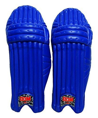 Untamed Pro BDM Herren Cricket Beinschutz Rechtshänder Blau Batting Pads PU-Leder