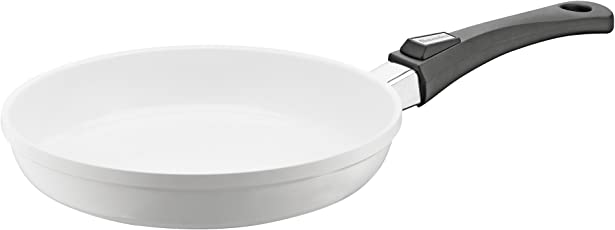 Berndes 032115 Vario Click Induction White Aluguss Bratpfanne keramik mit abnehmbarem Griff 24 cm