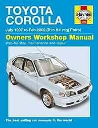 buy toyota corolla petrol july 97 feb 02 p to 51 haynes service rh amazon in toyota corolla 98 repair manual pdf 2002 Toyota Corolla Owners Manual