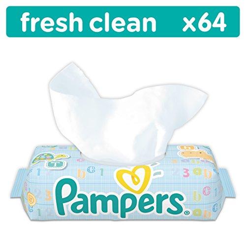 Pampers Fresh Clean Feuchttücher, 12er Pack ( 12 x 64Stück)