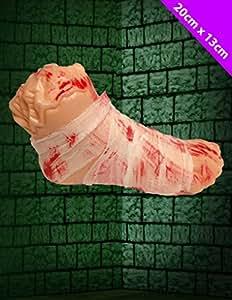 Scream Machine - Faux Pied Sanglant Déguisement Halloween Zombie Accessoire Décoration