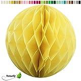 1 Wabenball 20cm ( gelb 645 ) // Wabenkugel Honeycomb Hänge Deko Ballon Laternen Aufhänger Waben Bälle Papier Pompons Dekoration Geburtstag Party Hochzeit