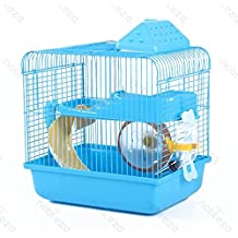 Nobleza - Jaula para roedores, con tobogán y rueda. Varios medidas y colores.
