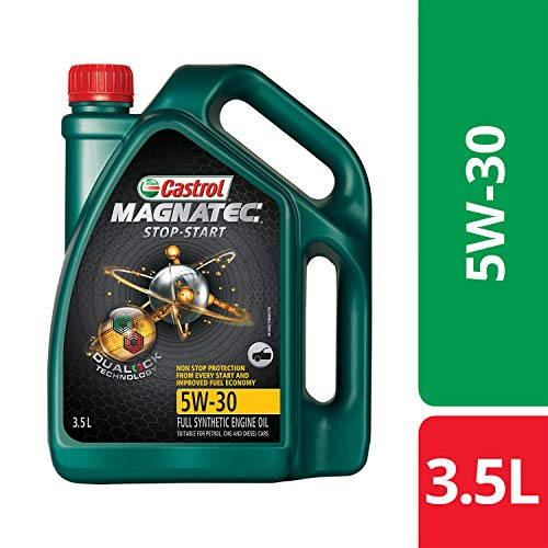 Castrol MAGNATEC Stop-Start 5W-30 Full Synthetic Engine Oil for Petrol, Diesel and CNG Cars (3.5L)