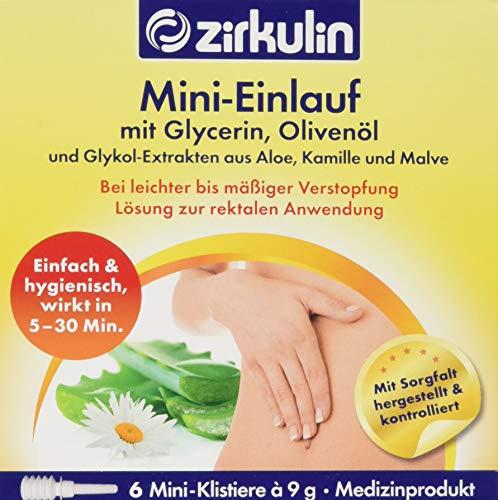 Zirkulin Naturheilmittel Mini-Einlauf mit Glycerin und Olivenöl, 9 g